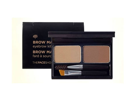 THE FACE SHOP EYE Палетка для макияжа бровей TFS BROWMASTER EYEBROW KIT01 BEIGE BROWN
