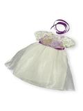Платье из тафты - Кремовый. Одежда для кукол, пупсов и мягких игрушек.
