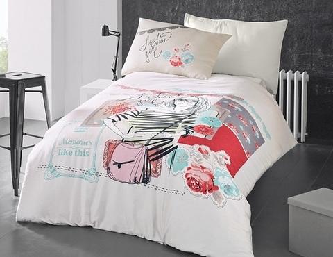 Комплект постельного белья DO&CO RANFORCE Подростковое 1,5 спальное ELODIA