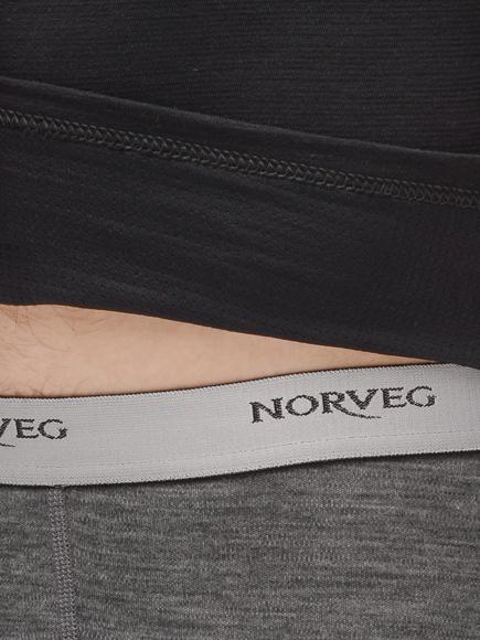 Комплект термобелья с шерстью Norveg Hunter Black мужской низ