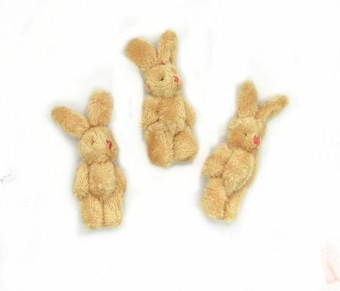 Іграшка для ляльки 6 см - зайчик бежевий