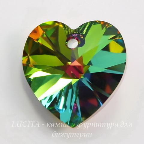 6228 Подвеска Сваровски Сердечко Crystal Vitrail Medium (10,3х10 мм)