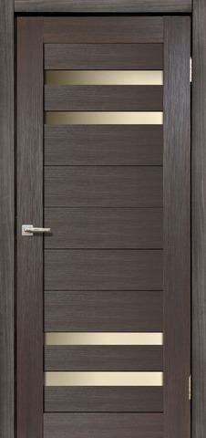 Дверь Дера Мастер 636, стекло белое, цвет венге, остекленная
