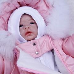 Набор на выписку зимний Spase розовый