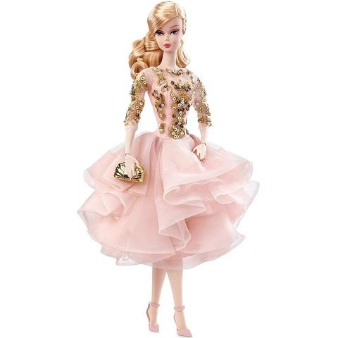 Барби Манекенщица в розово-золотом коктейльном платье