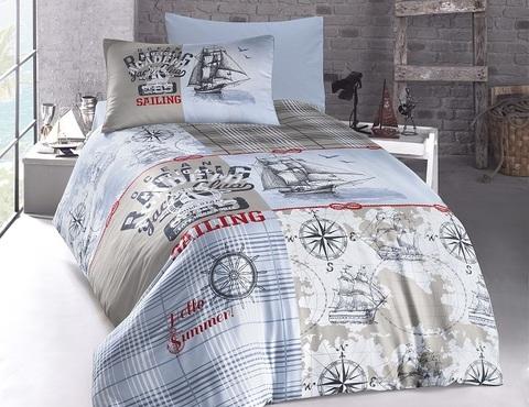 Комплект постельного белья DO&CO RANFORCE Подростковое 1,5 спальное SHIP