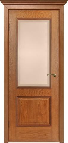 Дверь Двери Белоруссии Гранд ПО, цвет орех-коньяк, остекленная