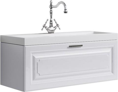 Империя Тумба под умывальник подвесная, цвет белый Emp.01.10/W,