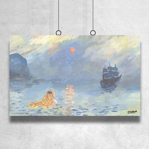 Картина «Русалочка» 40х60см или 90х140см