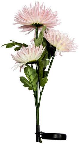 """Светильник садово-парковый на солнечной батарее """"Астра 3шт."""" розовый, 3 LED белый, 80см , PL304 (Feron)"""