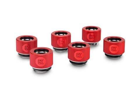 EK-HDC Fitting 12mm - Red (6-pack)