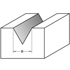 Фреза концевая CMT для гравирования и декорирования D=12,7 I=13,0 S=8,0 L=57,0