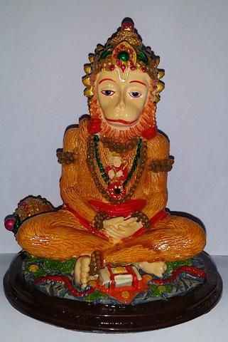 Статуэтка Хануман Царь обезьян - защитник от зла, полистоун 10 см