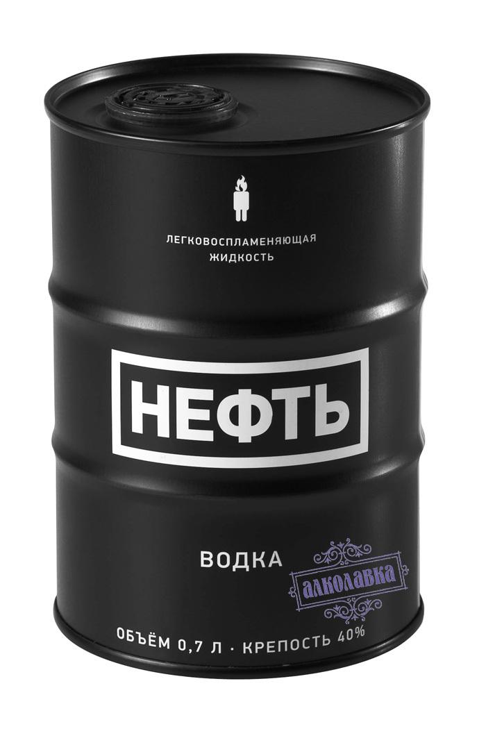 НЕФТЬ ЧЕРНАЯ. ВОДКА. 0.75 л