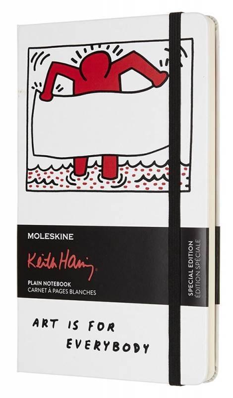 Блокнот Moleskine Keith Haring Large Limited Edition, цвет белый, без разлиновки 430916(LEKH01QP062)