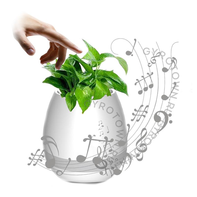 Умный горшок с Bluetooth Smart Music Flowerpot белый - Bluetooth колонки, артикул: 873279