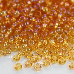 Бисер 10/0 Preciosa прозрачный радужный, золотистый