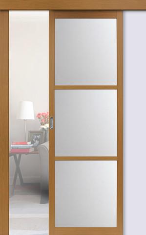 Перегородка межкомнатная Optima Porte 130.222, стекло матовое, цвет орех классический, остекленная (за 1 кв.м)