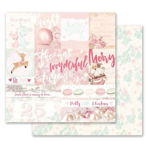 Лист двусторонней бумаги 30х30см из коллекции Santa Baby от Prima Marketing-Pretty Little Christmas