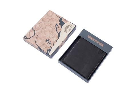 Кожаный бумажник Klondike 1896 «Yukon black», 9 отделений, Germany, фото 4