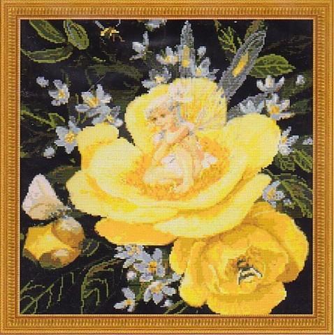 Фея на желтом пионе
