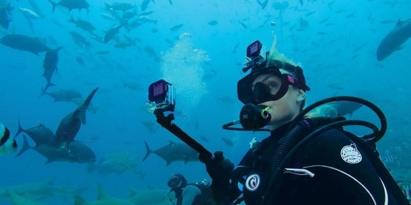 Пурпурный фильтр для дайв-бокса Magenta Dive Filter (ADVFM-301) пример использования