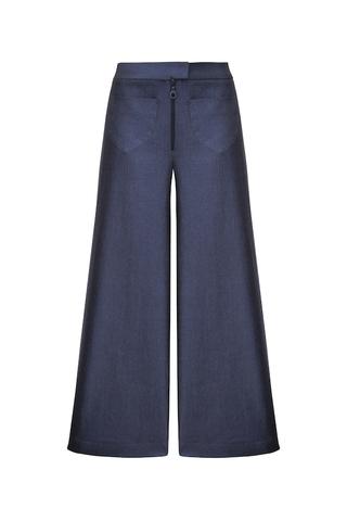 Брюки-кюлоты джинсовые