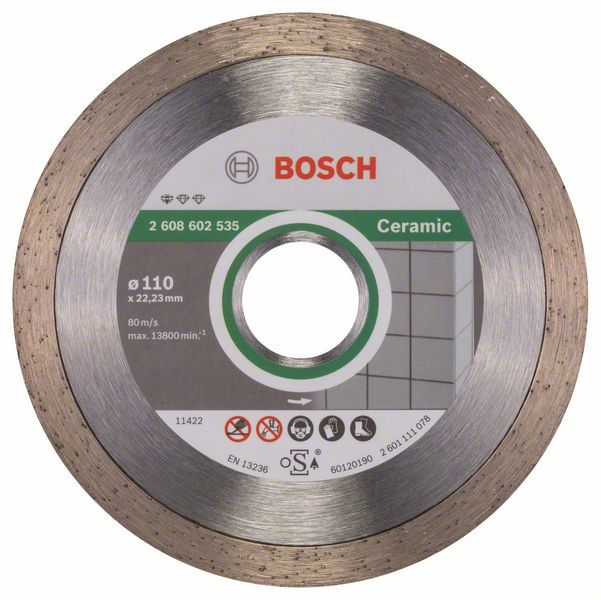 Алмазный диск Standart for Ceramic 110-22,23 Bosch 2608602535