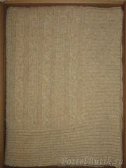 Плед 140х180 Treccia от CO.BI. темно-серый