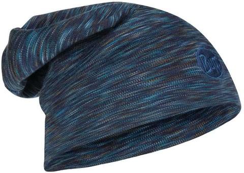 Теплая шерстяная шапка-бини Buff Hat Wool Heavyweight Denim Multi Stripes