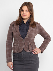 4315-2 пиджак женский, коричневый