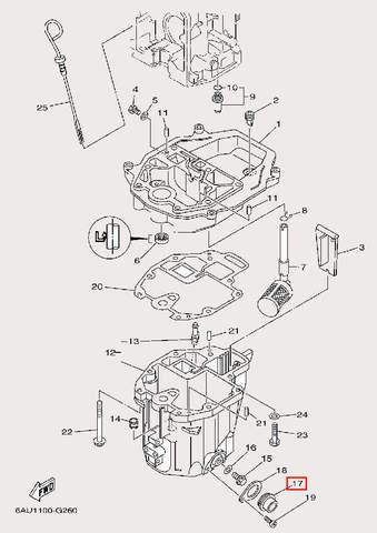 Крышка резиновая для лодочного мотора F9,9 Sea-PRO (24-17)