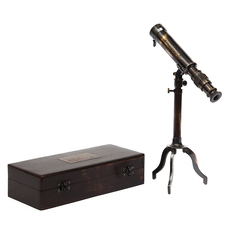 Подзорная труба в деревянной подарочной коробке Secret De Maison ( mod. 45428 ) — античная медь/коричневый