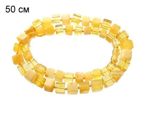 янтарное ожерелье 50 см