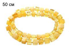 ожерелье из янтарных кубиков_длина 50 см_фото
