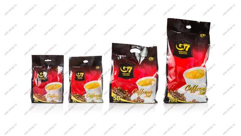 Вьетнамский растворимый кофе G7 3 в 1, 20-100 пак.