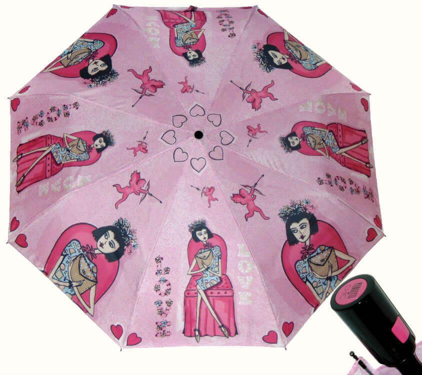 Зонт складной Perletti Chic 21195-2 Histoire d'Amour