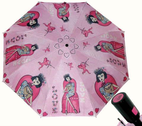 Купить онлайн Зонт складной Perletti Chic 21195-2 Histoire d'Amour в магазине Зонтофф.