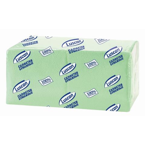 Салфетки Luscan Profi Pack 1-сл.24х24 пастель салатовые 400 шт./уп.