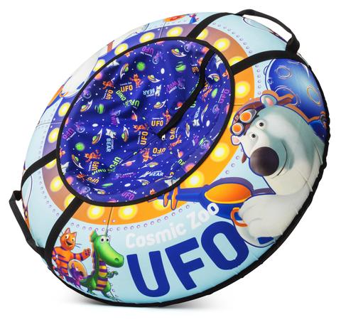 Тюбинг Cosmic Zoo UFO Медвежонок ( небесно - голубой)