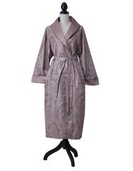 Элитный халат сатиновый Katharina темно-серо-бежевый от Curt Bauer