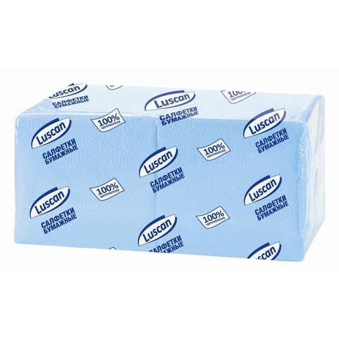Салфетки Luscan Profi Pack 1-сл.24х24 пастель голубые 400 шт./уп.