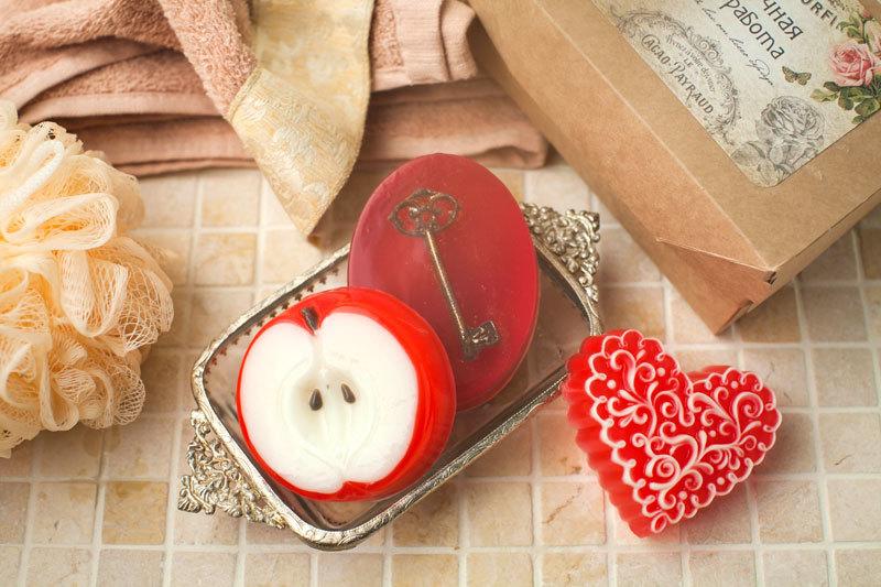 Форма для изготовления мыла Сердце-волна