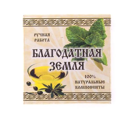 Мыло натуральное оливковое Мята, 75 г