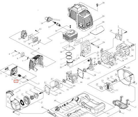 Дроссель для лодочного мотора T3,5 Sea-PRO