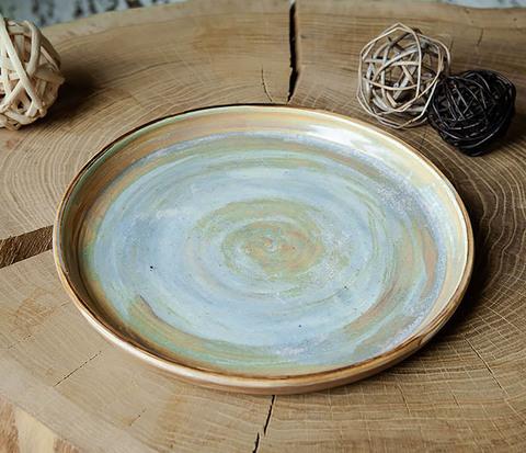 Керамический поднос ручной работы в глазури