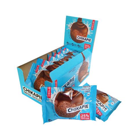 Протеиновое печенье Chikalab Шоколад с начинкой, 60 гр