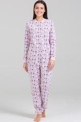 """Пижама-комбинезон """"Овечки розовые"""" с кармашком"""