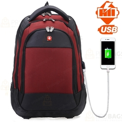 Рюкзак SWISSWIN 2016 USB Красный