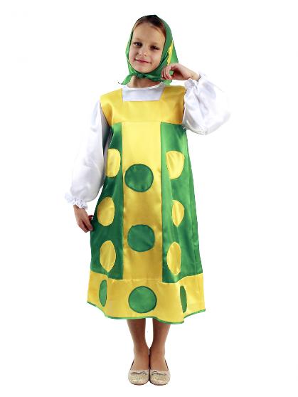 Карнавальный костюм Матрешка зеленая